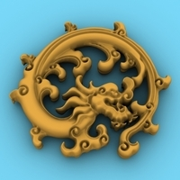 Chinese Dragon Symbol 7 3D Model