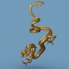 High detailed Chinese dragon 04 3D Model