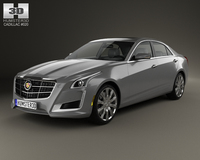 Cadillac CTS 2014 3D Model