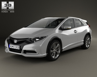 Honda Civic tourer 2013 3D Model