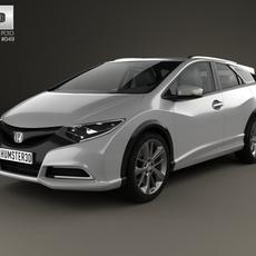 Honda Civic tourer 2013 3D Model