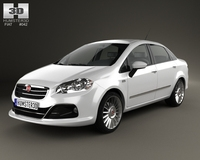 Fiat Linea 2013 3D Model