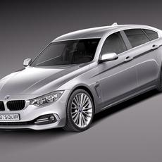 BMW 4 Series Gran Coupe 2015 3D Model