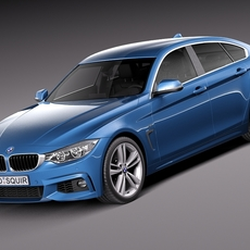 BMW 4 Series Gran Coupe M sport package 2015 3D Model
