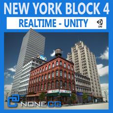 NYC Block #4 Unity 3D Model