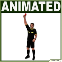 White Soccer Referee CG 3D Model