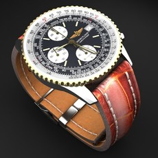 Breitling Old Navitimer II mens luxury watch 3D Model