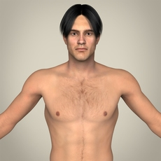 Realistic Young Muscular Male 3D Model