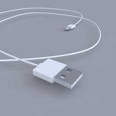 Apple USB Cord 3D Model