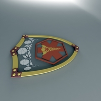 Sheild with Tiara 3D Model