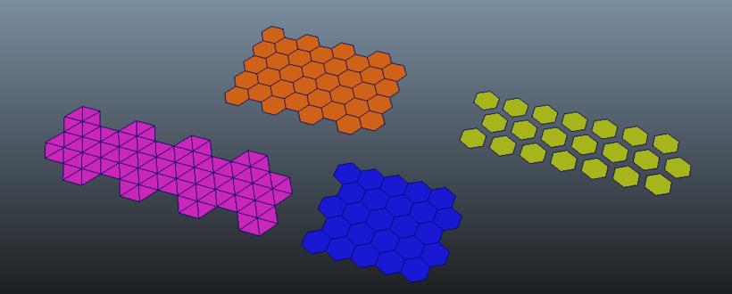 Hexagon Grid Creator for Maya
