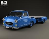 Mercedes-Benz Blue Wonder Renntransporter 1954 3D Model