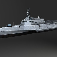 USS Independence LCS-2 battle ship 3D Model
