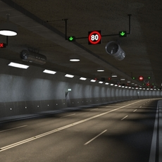 Tileable road tunnel 3D Model