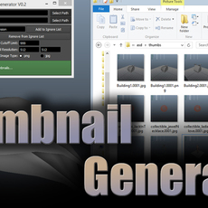 3D Thumbnail Generator (batch script) 0.3.1 for Maya (maya script)