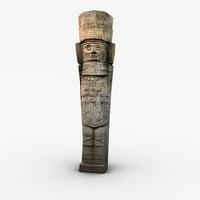 Ancient stone statue 3D Model