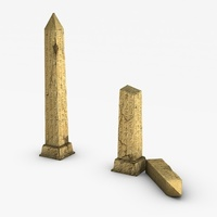 Egyptian broken obelisk 3D Model