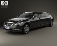 Mercedes-Benz S-Class (W221) Pullman 2012 3D Model