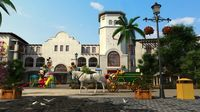 European town with carriage 3D Model