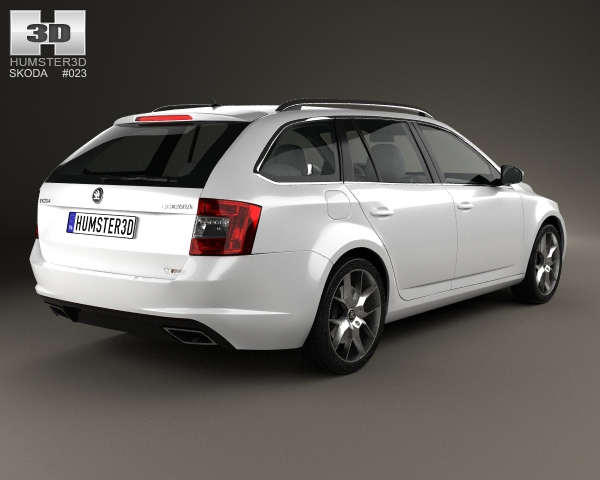 skoda octavia rs combi 2013 3d model. Black Bedroom Furniture Sets. Home Design Ideas
