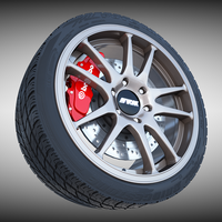 Work Crag ST5 Wheel 3D Model