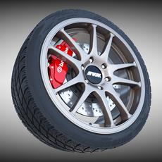 Work Crag ST5 Wheel 3D Model