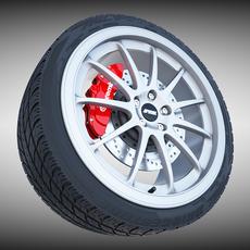 Work Emotion 11R Wheel 3D Model
