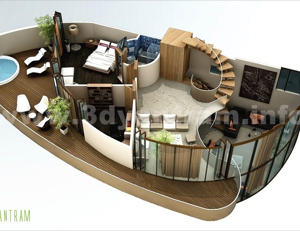 3d floor plan show
