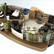 3d floor plan small