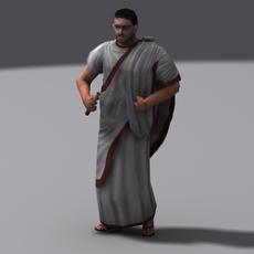 Roman diplomat 3D Model