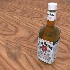 Jim beam bottle 3D Model