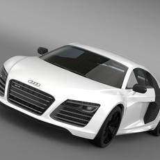 Audi R8 V10plus 2013 3D Model