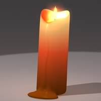 Animated candle 3D Model