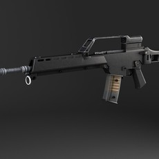 Heckler & Koch G36 Assault Rifle 3D Model