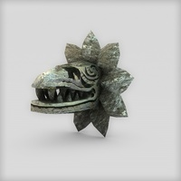 Stone serpent head quetzalcoatl 3D Model