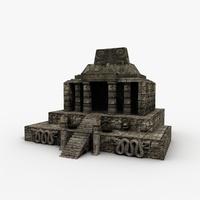 Aztec Temple 3D Model