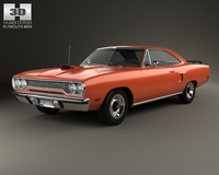 Plymouth Road Runner 440 hardtop 1970 3D Model