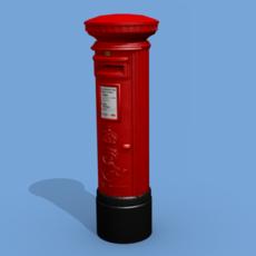 UK Postbox 3D Model