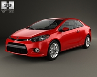Kia Forte (Cerato / Naza / K3) Koup 2014 3D Model