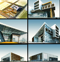 3d Office Building 336 3D Model