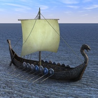 Viking Ship 3D Model
