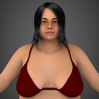 Realistic Fat Woman 3D Model