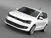 Volkswagen Polo 5d 2009-2013 3D Model
