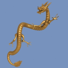 High detailed Chinese dragon 05 3D Model