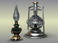 Oil Lamps 3D Model