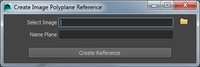 Create Image Polyplane Reference 1.0.0 for Maya (maya script)