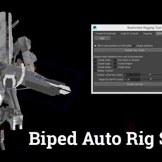 ReanimatedRigging - Biped Auto Rigging Script for Maya 1.0.0 (maya script)