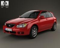 Kia Cerato (Spectra) hatchback 2004 3D Model