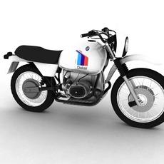 BMW R80 GS Paris-Dakar 3D Model
