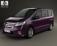 Nissan Serena Highway Star 2013 3D Model